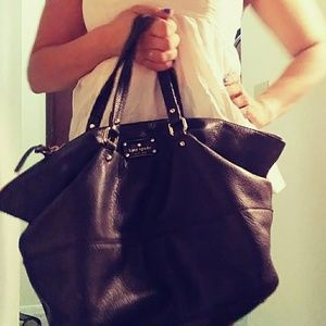 Preloved Authentic Large Leather Hobo